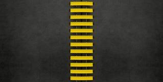 Geel Geëlimineerd Zwart Leer Stock Foto