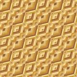 Geel Geometrisch Naadloos Patroon Royalty-vrije Stock Foto's