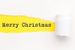 Geel Gescheurd Document - Kerstmis 2016 Royalty-vrije Stock Afbeeldingen