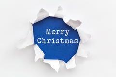 Geel Gescheurd Document - Kerstmis 2016 Royalty-vrije Stock Foto's