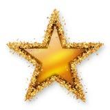 Geel Gouden Topaz Coloured Gemstone Star met Gouden Filmsterretje Bor Stock Foto's