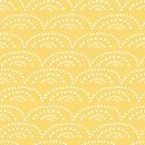 Geel hand getrokken naadloos patroon vector illustratie