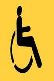 Geel handicapteken Royalty-vrije Stock Foto's
