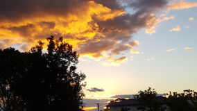 Geel hemeladelaide Zuid-Australië Stock Foto