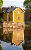 Geel Huis Stock Foto