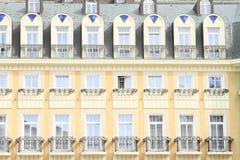 Geel huis Royalty-vrije Stock Foto's