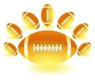 Geel isolaited de ballen van het Rugby vector illustratie