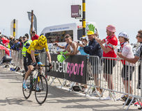 Geel Jersey op Mont Ventoux - Ronde van Frankrijk 2013 Stock Fotografie