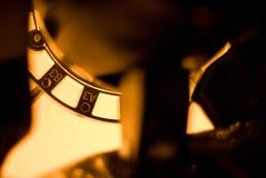 Geel licht cijfers Art By ZVEREVA Stock Foto