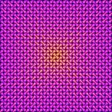 Geel licht door geometrisch patroon het 3d teruggeven vector illustratie