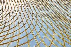 Geel Metaal Rod Abstract Royalty-vrije Stock Fotografie
