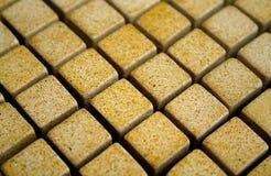 Geel mozaïek Stock Afbeeldingen