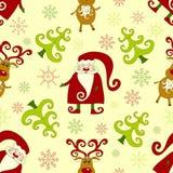 Geel naadloos Kerstmispatroon 2. Royalty-vrije Stock Fotografie
