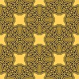 Geel naadloos ornament Royalty-vrije Illustratie