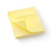 Geel notitieboekje   Stock Foto