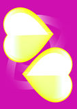 geel op het viooltje Stock Afbeelding