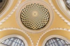 Geel Overkoepeld plafond royalty-vrije stock foto
