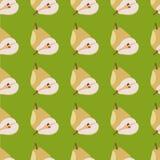 Geel peren naadloos patroon Stock Foto