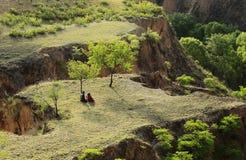 Geel plateau Stock Afbeelding