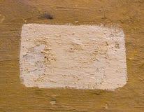 Geel pleister met verftextuur voor achtergrond Royalty-vrije Stock Afbeelding
