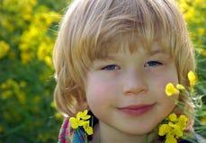 Geel portret Stock Foto