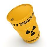 Geel radioactief vat stock illustratie