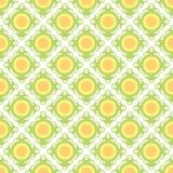 Geel retro behang naadloos patroon stock foto