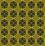 Geel-rood etnisch patroon Royalty-vrije Stock Afbeelding