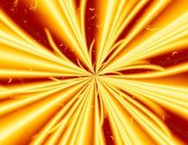 Geel rood modern abstract fractal art. Eenvoudige illustratie als achtergrond met energie lichte explosie Creatief grafisch malpl Royalty-vrije Stock Fotografie