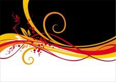 Geel-rood ontwerp Stock Afbeelding