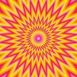 Geel rood roze kleurrijk straaleffect Stock Afbeeldingen