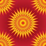 Geel rood roze kleurrijk straaleffect naadloos patroon Stock Foto