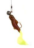 Geel-rood visserijlokmiddel Stock Afbeelding
