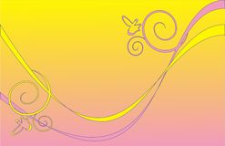 Geel-roze achtergrond Royalty-vrije Stock Foto
