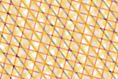 Geel, Roze, Gray Computer Generated Abstract Geometric-Patroon Stock Illustratie