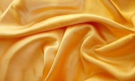 Geel satijn Stock Foto