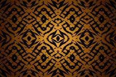 Geel stammenvormenpatroon Stock Afbeeldingen