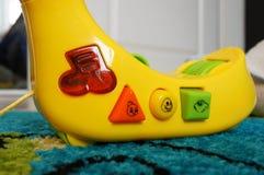 Geel stuk speelgoed Royalty-vrije Stock Foto
