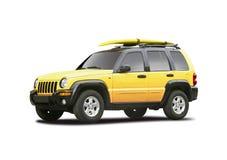 Geel SUV stock afbeelding