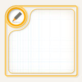 Geel tekstkader vector illustratie
