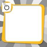 Geel tekstvakje royalty-vrije illustratie