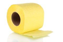 Geel toiletpapier royalty-vrije stock fotografie