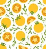 Geel tomatenpatroon vector illustratie