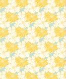 Geel tropisch bloemenpatroon, naadloos voor stoffen en behang stock illustratie