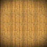 Geel van bamboedetailbtexture behang als achtergrond stock fotografie