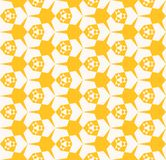 Geel vectornet geometrisch patroon met net, driehoeken, zeshoeken, bloemenvormen Royalty-vrije Stock Afbeelding