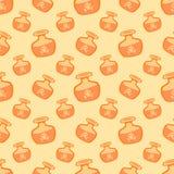 Geel vectorwondermiddelen naadloos patroon stock illustratie
