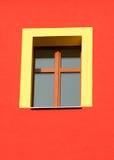 Geel venster Stock Fotografie