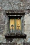 Geel venster stock afbeelding