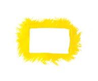 Geel verfkader Stock Foto